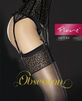 Fiore Antera Black or Red Stockings with Leopard Print Tops